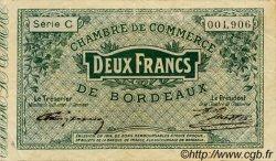 2 Francs FRANCE régionalisme et divers BORDEAUX 1914 JP.030.03 TB
