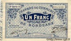 1 Franc FRANCE régionalisme et divers BORDEAUX 1914 JP.030.06 TTB à SUP