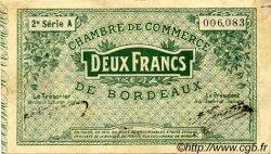 2 Francs FRANCE régionalisme et divers BORDEAUX 1914 JP.030.09 TTB à SUP