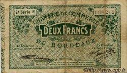 2 Francs FRANCE régionalisme et divers BORDEAUX 1914 JP.030.09 TB