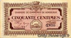 50 Centimes FRANCE régionalisme et divers BORDEAUX 1917 JP.030.11 SPL à NEUF