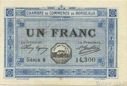 1 Franc FRANCE régionalisme et divers BORDEAUX 1917 JP.030.14 SPL à NEUF