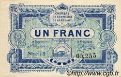 1 Franc FRANCE régionalisme et divers Bordeaux 1917 JP.030.21 TB