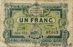 1 Franc FRANCE régionalisme et divers BORDEAUX 1920 JP.030.26 TB