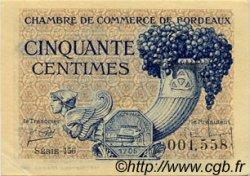 50 Centimes FRANCE régionalisme et divers BORDEAUX 1921 JP.030.28 TTB à SUP
