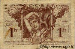 1 Franc FRANCE régionalisme et divers BORDEAUX 1921 JP.030.30 TB