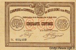 50 Centimes FRANCE régionalisme et divers BOULOGNE-SUR-MER 1914 JP.031.01 TTB à SUP