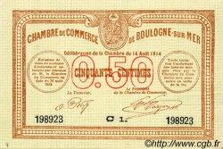 50 Centimes FRANCE régionalisme et divers BOULOGNE-SUR-MER 1914 JP.031.11 SPL à NEUF