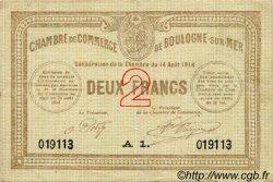 2 Francs FRANCE régionalisme et divers BOULOGNE-SUR-MER 1914 JP.031.13 TB
