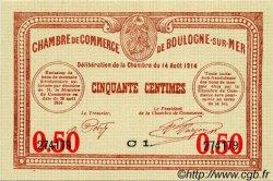 50 Centimes FRANCE régionalisme et divers Boulogne-Sur-Mer 1914 JP.031.14 SPL à NEUF