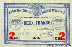 2 Francs FRANCE régionalisme et divers Boulogne-Sur-Mer 1914 JP.031.16 TTB à SUP