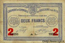 2 Francs FRANCE régionalisme et divers Boulogne-Sur-Mer 1914 JP.031.16 TB