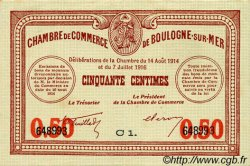 50 Centimes FRANCE régionalisme et divers BOULOGNE-SUR-MER 1914 JP.031.17 TTB à SUP