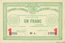 1 Franc FRANCE régionalisme et divers Boulogne-Sur-Mer 1914 JP.031.19 SPL à NEUF