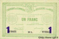 1 Franc FRANCE régionalisme et divers BOULOGNE-SUR-MER 1914 JP.031.24 TTB à SUP