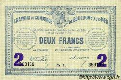 2 Francs FRANCE régionalisme et divers BOULOGNE-SUR-MER 1914 JP.031.25 TTB à SUP