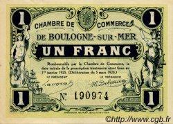 1 Franc FRANCE régionalisme et divers Boulogne-Sur-Mer 1920 JP.031.27 TTB à SUP