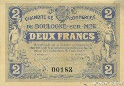 2 Francs FRANCE régionalisme et divers BOULOGNE-SUR-MER 1920 JP.031.28 TTB à SUP