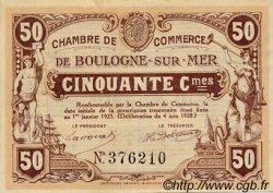 50 Centimes FRANCE régionalisme et divers BOULOGNE-SUR-MER 1920 JP.031.29 TTB à SUP