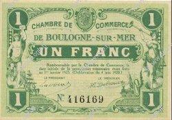 1 Franc FRANCE régionalisme et divers BOULOGNE-SUR-MER 1920 JP.031.30 SPL à NEUF