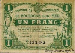 1 Franc FRANCE régionalisme et divers BOULOGNE-SUR-MER 1920 JP.031.30 TB
