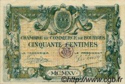 50 Centimes FRANCE régionalisme et divers BOURGES 1915 JP.032.01 TTB à SUP