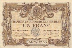 1 Franc FRANCE régionalisme et divers BOURGES 1915 JP.032.06 TTB à SUP