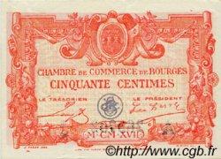 50 Centimes FRANCE régionalisme et divers BOURGES 1917 JP.032.10 SPL à NEUF