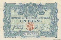 1 Franc FRANCE régionalisme et divers BOURGES 1922 JP.032.13 TTB à SUP