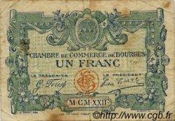 1 Franc FRANCE régionalisme et divers BOURGES 1922 JP.032.13 TB