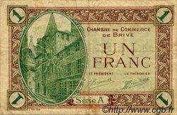 1 Franc FRANCE régionalisme et divers BRIVE 1918 JP.033.02 TB