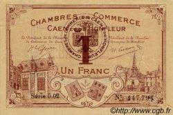 1 Franc FRANCE régionalisme et divers CAEN ET HONFLEUR 1920 JP.034.01 TTB à SUP