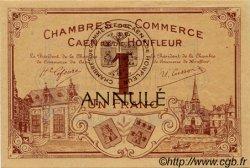 1 Franc FRANCE régionalisme et divers Caen et Honfleur 1918 JP.034.02 TTB à SUP