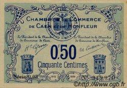 50 Centimes FRANCE régionalisme et divers CAEN ET HONFLEUR 1918 JP.034.04 TTB à SUP