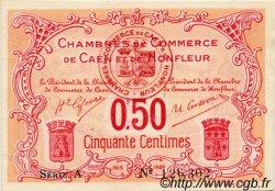 50 Centimes FRANCE régionalisme et divers Caen et Honfleur 1918 JP.034.12 TTB à SUP
