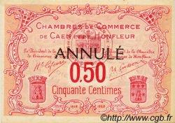 50 Centimes FRANCE régionalisme et divers CAEN ET HONFLEUR 1918 JP.034.13 SPL à NEUF