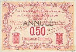 50 Centimes FRANCE régionalisme et divers CAEN ET HONFLEUR 1918 JP.034.13 TTB à SUP