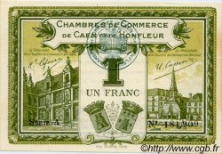 1 Franc FRANCE régionalisme et divers CAEN ET HONFLEUR 1918 JP.034.14 SPL à NEUF