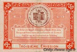 50 Centimes FRANCE régionalisme et divers Caen et Honfleur 1918 JP.034.16 SPL à NEUF