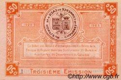 50 Centimes FRANCE régionalisme et divers Caen et Honfleur 1918 JP.034.16 TTB à SUP