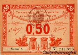 50 Centimes FRANCE régionalisme et divers CAEN ET HONFLEUR 1918 JP.034.16 TB