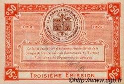 50 Centimes FRANCE régionalisme et divers CAEN ET HONFLEUR 1918 JP.034.17 TTB à SUP