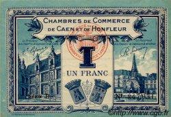 1 Franc FRANCE régionalisme et divers Caen et Honfleur 1918 JP.034.18 SPL à NEUF