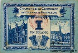 1 Franc FRANCE régionalisme et divers CAEN ET HONFLEUR 1918 JP.034.18 TB