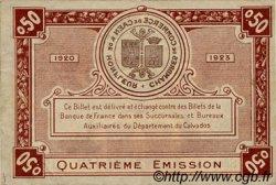 50 Centimes FRANCE régionalisme et divers Caen et Honfleur 1918 JP.034.20 TTB à SUP