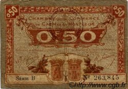 50 Centimes FRANCE régionalisme et divers Caen et Honfleur 1918 JP.034.20 TB