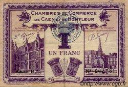 1 Franc FRANCE régionalisme et divers Caen et Honfleur 1918 JP.034.22 TB