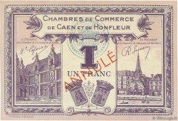 1 Franc FRANCE régionalisme et divers CAEN ET HONFLEUR 1918 JP.034.23 SPL à NEUF