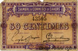 50 Centimes FRANCE régionalisme et divers Cahors 1915 JP.035.01 TB