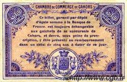 50 Centimes FRANCE régionalisme et divers CAHORS 1915 JP.035.05 SPL à NEUF